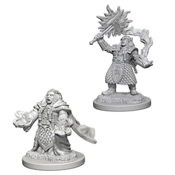 Picture of Dungeons and Dragons Nolzur's Marvellous Unpainted Dwarf Female Cleric Miniatures