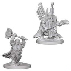 Picture of Dungeons and Dragons Nolzur's Marvellous Unpainted Dwarf Male Paladin Miniatures
