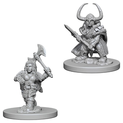 Picture of Dungeons and Dragons Nolzur's Marvellous Unpainted Dwarf Female Barbarian Miniatures