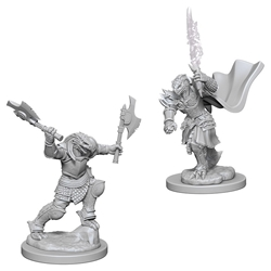 Picture of Dungeons & Dragons Nolzur's Marvelous Unpainted Dragonborn Female Fighter Miniatures