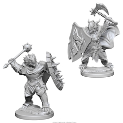 Picture of Dungeons and Dragons Nolzur's Marvelous Unpainted Dragonborn Male Paladin Miniatures