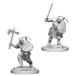 Picture of Dungeons and Dragons Nolzur's Marvelous Unpainted Earth Genasi Male Fighter Miniatures