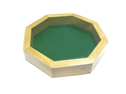 """Picture of Koplow Wood Octagon 10"""" Dice Tray"""