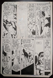 Picture of George Perez Teen Titans #17 Page 8 Original Art