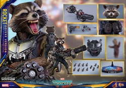 Picture of Rocket Deluxe Version Guardians of the Galaxy Vol 2 Movie Masterpiece Series Hot Toys Sixth Scale Figure