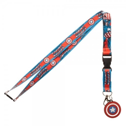 Picture of Marvel Captain America Logo Character Lanyard