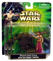 Picture of Star Wars Power of the Jedi Princess Leia with Sail Barge Cannon Deluxe Action Figure
