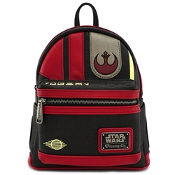 Picture of Loungefly x Star Wars: The Last Jedi Poe Cosplay Faux Leather Mini Backpack