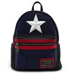 Picture of Loungefly x Marvel Captain America Cosplay Mini Backpack