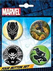 Picture of Black Panther 4 Button Set
