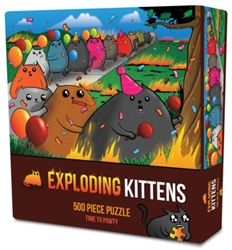 Picture of Exploding Kittens Time to Pawty 500 Piece Puzzle