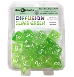 Picture of Roll 4 Initiative Diffusion Slime Green Dice Set