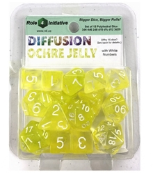 Picture of Roll 4 Initiative Diffusion Ochre Jelly Dice Set