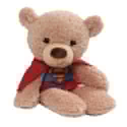 "Picture of Fuzzy Supergirl Bear 14"" Plush"