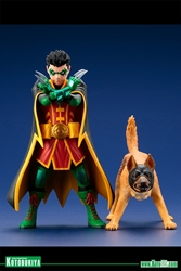 Picture of Robin and Bat-Hound DC Comics ArtFX+ Statue