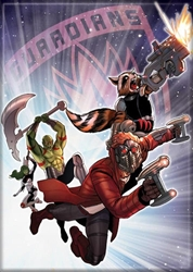 Picture of Guardians of the Galaxy Team Leaping in Space Magnet