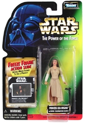 Picture of Star Wars Leia Organa Ewok Celebration Outfit Freeze Frame Power of the Force Action Figure