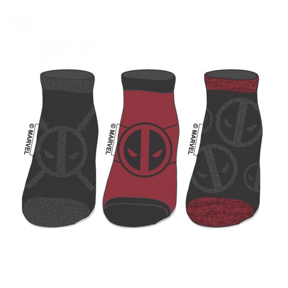 c4e24ab76557c Bedrock City Comic Company. Deadpool 3 Pack Ankle Socks
