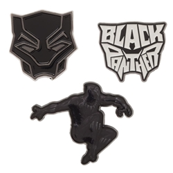 Picture of Black Panther 3 Pack Lapel Pin Set