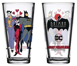 Picture of Batman Harley Quinn and Joker Mad Love Animated Series Toon Tumbler