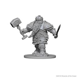 Picture of Dungeons and Dragons Nolzur's Marvellous Unpainted Dwarf Male Fighter Miniatures