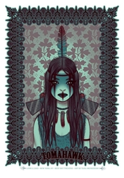 Picture of Tara McPherson Tomahawk Print