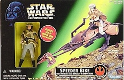 Picture of Star Wars Power of the Force Speeder Bike with Princess Leia (Endor Gear) Action Set