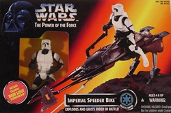 Picture of Star Wars Power of the Force Imperial Speeder Bike with Biker Scout Action Set