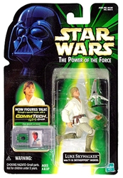 Picture of Star Wars Luke Skywalker with T-16 Skyhopper Model Power of the Force Commtech Chip Action Figure