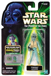 Picture of Star Wars Greedo Power of the Force Commtech Chip Action Figure