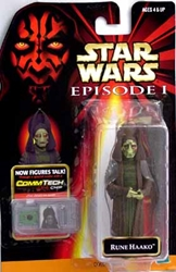 Picture of Star Wars Episode I Commtech Chip Rune Haako Action Figure