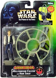 Picture of Star Wars Millennium Falcon with Han Solo Gunner Station Action Figure