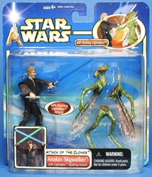 Picture of Star Wars Anakin Skywalker Lighstaber Slashing Action Attacl of the Clones Deluxe Action Figure