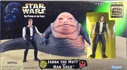 Picture of Star Wars Jabba the Hutt and Han Solo Power of the Force Action Figure Set