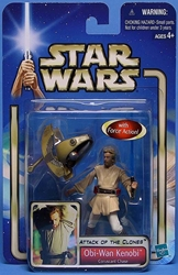 Picture of Star Wars Attack of the Clones Obi-Wan Kenobi (Coruscant Chase) #03 Action Figure