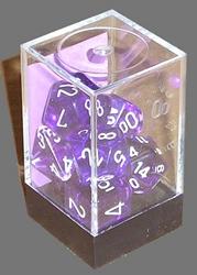 Picture of Dice Set Translucent Purple/White