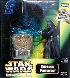Picture of Star Wars Emperor Palpatine Power of the Force Action Figure with Millennium Minted Coin