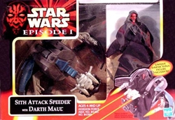 Picture of Star Wars Episode I Sith Attack Speeder with Darth Maul Action Figure