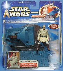 Picture of Star Wars Obi-Wan Kenobi Attack of the Clones Deluxe Action Figure