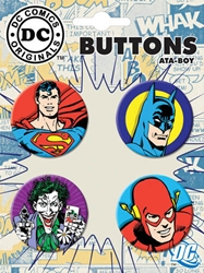 Picture of DC Headshot Button Set (4)