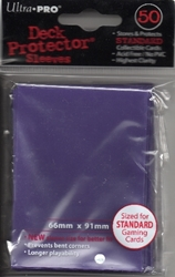 Picture of Deck Protectors Purple Card Sleeve 50-Count Pack