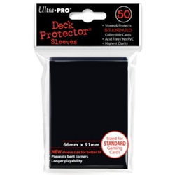 Picture of Deck Protectors Black Card Sleeve 50-Count Pack