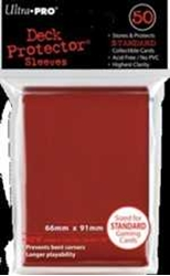 Picture of Deck Protectors Red Card Sleeve 50-Count Pack