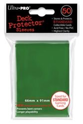 Picture of Deck Protectors Green Card Sleeve 50-Count Pack
