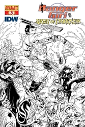 Picture of Danger Girl Army of Darkness #3 Campbell Black and White Cover