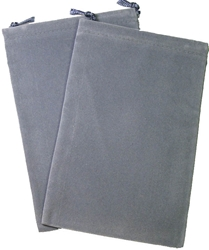 Picture of Dice Gray Velour Large Pouch