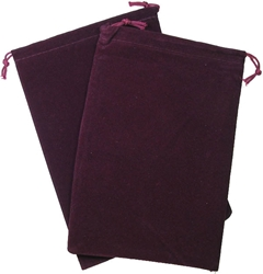 Picture of Dice Burgundy Velour Large Pouch