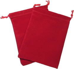 Picture of Dice Red Velour Large Pouch