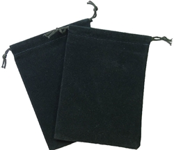 Picture of Dice Green Velour Large Pouch