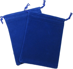 Picture of Dice Blue Velour Large Pouch